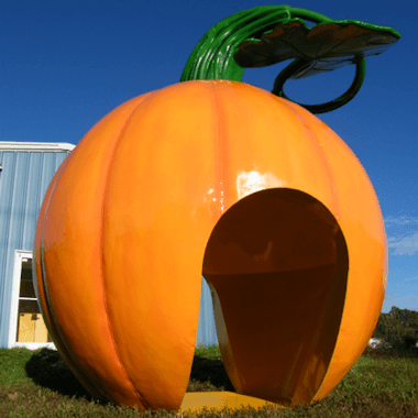 Custom Metal Pumpkin