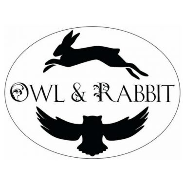 owl and rabbit square logo